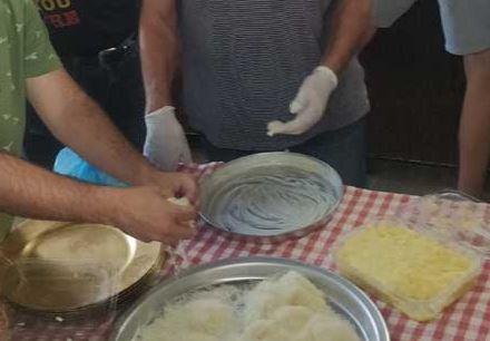 סדנה להכנת כנאפה בפאוזי עזאר - נצרת