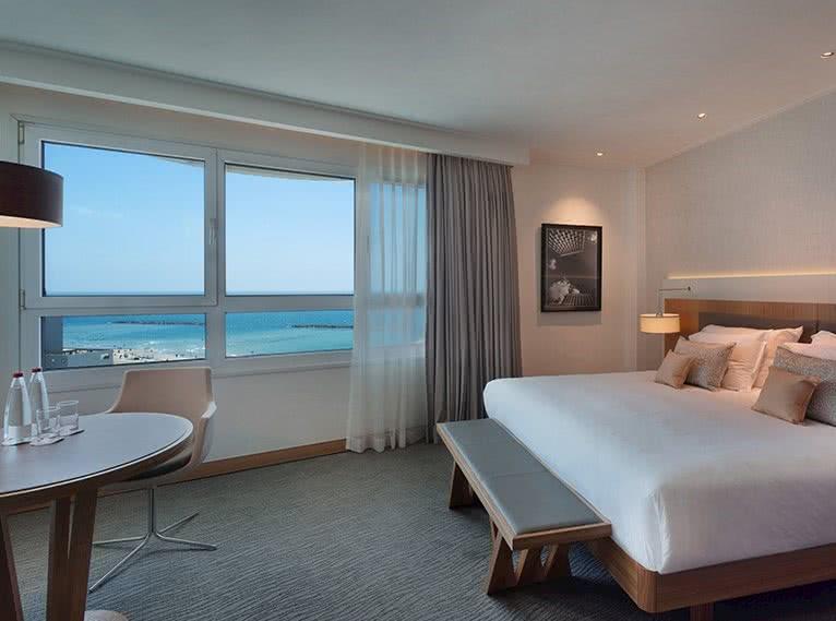 חדר זוגי עם נוף לים